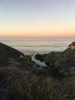 Jogging through Crystal Cove, Ca., at 4am